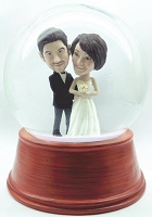 Bride and Groom personalized snow globe