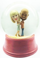 Couple having a slow dance personalized snow globe