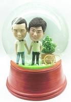 Same sex marriage personalized snow globe