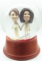 Same sex marriage 2 personalized snow globe