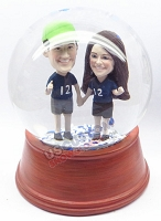 Happy couple 2 personalized snow globe