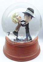 Choking couple personalized snow globe