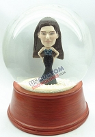 Women in a sexy long dress personalized snow globe