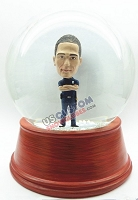 Male security guard with arms crossed personalized snow globe