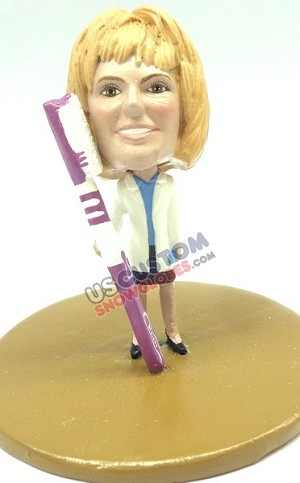 Female dental  personalized snow globe
