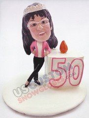 50th Birthday personalized snow globe
