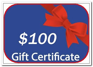 personalized snow globe gift certificate $100.00