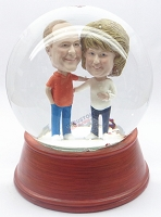 Custom Snow Globe | Male And Female Holding Eachother