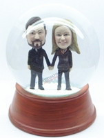Custom Snow Globe | Male And Female Holding Hands