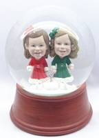 Custom Snow Globe | Couple Of Girls Wearing Dresses