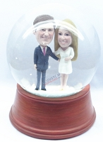 Custom Snow Globe | Couple Fancy Dressed