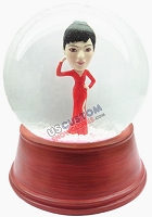 Custom Snow Globe | Women In A Sexy Dress