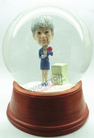 Custom Snow Globe | Business Woman Drinking Coffee