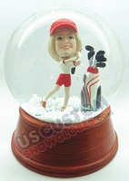 Custom Snow Globe | Female Golf Player