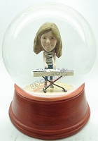 Custom Snow Globe | Female Keyboard Player
