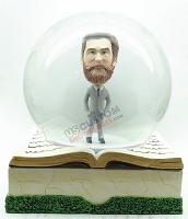 Custom Snow Globe | Super Spiffy Dress With Book Base