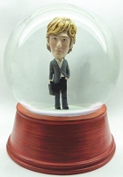 Custom Snow Globe | Male In Suit W/Briefcase