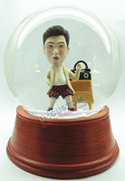 Custom Snow Globe | Male Playing
