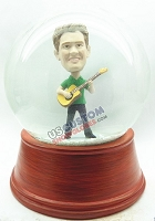 Custom Snow Globe | Male Playing An Acoustical Guitar