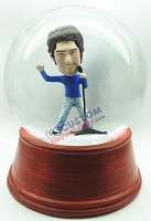 Custom Snow Globe | Male Singer