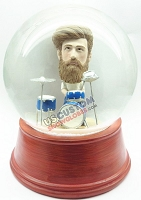 Custom Snow Globe | Male Drummer Scene
