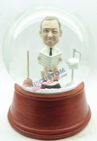 Custom Snow Globe | Male Reading A Paper On The Toilet