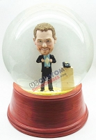 Custom Snow Globe | Male Secret Super Hero
