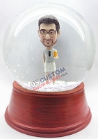 Custom Snow Globe | Male Wearing Shorts With Beer