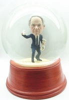 Custom Snow Globe | Man Holding A Bag Of Money And Cash In Hand