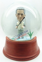 Custom Snow Globe | Male Fisherman