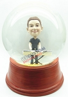 Custom Snow Globe | Male Keyboard Player