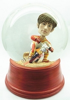 Custom Snow Globe | Male Riding On A Dirt Bike