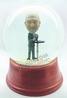 Custom Snow Globe | Male With Cup In Hand Resting At A Table