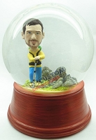 Custom Snow Globe | Male Hiker