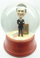 Custom Snow Globe | Business Man With Book Shelf
