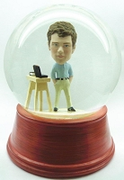 Custom Snow Globe | Casual Office Worker With Workstation