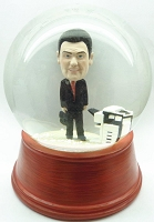 Custom Snow Globe | Male At The Office With Copy Machine