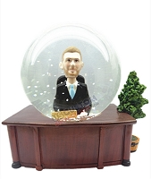 Custom Snow Globe | Business Man Sitting At His Desk Base