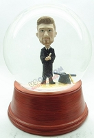 Custom Snow Globe | Male Graduation With Hat On Base