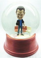 Custom Snow Globe | Male Bowler Holding Bowling Ball