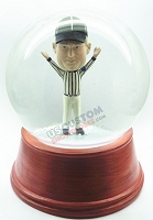 Custom Snow Globe | Male Referee Calling The Touch Down
