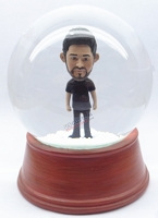 Custom Snow Globe | Male Standing In Casual Clothing