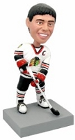 Hockey player action pose custom bobble head doll