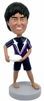 Frisbee player custom bobble head doll