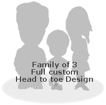 Full custom bobble head doll   - Family of 3
