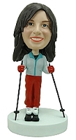 Female Skiing custom bobble head doll