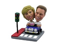 Drive-out date couple custom bobble head doll