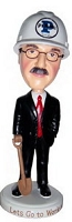 Executive Builder man personalized bobble head doll