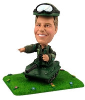 Army Tank and Soldier personalized bobble head doll