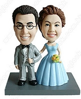 Arm and Arm 2 (Bride and Groom) personalized bobble head doll